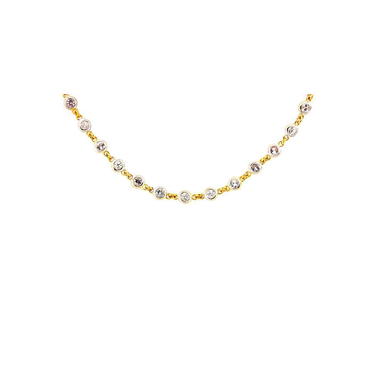 White Sapphire 18 Silver Chain
