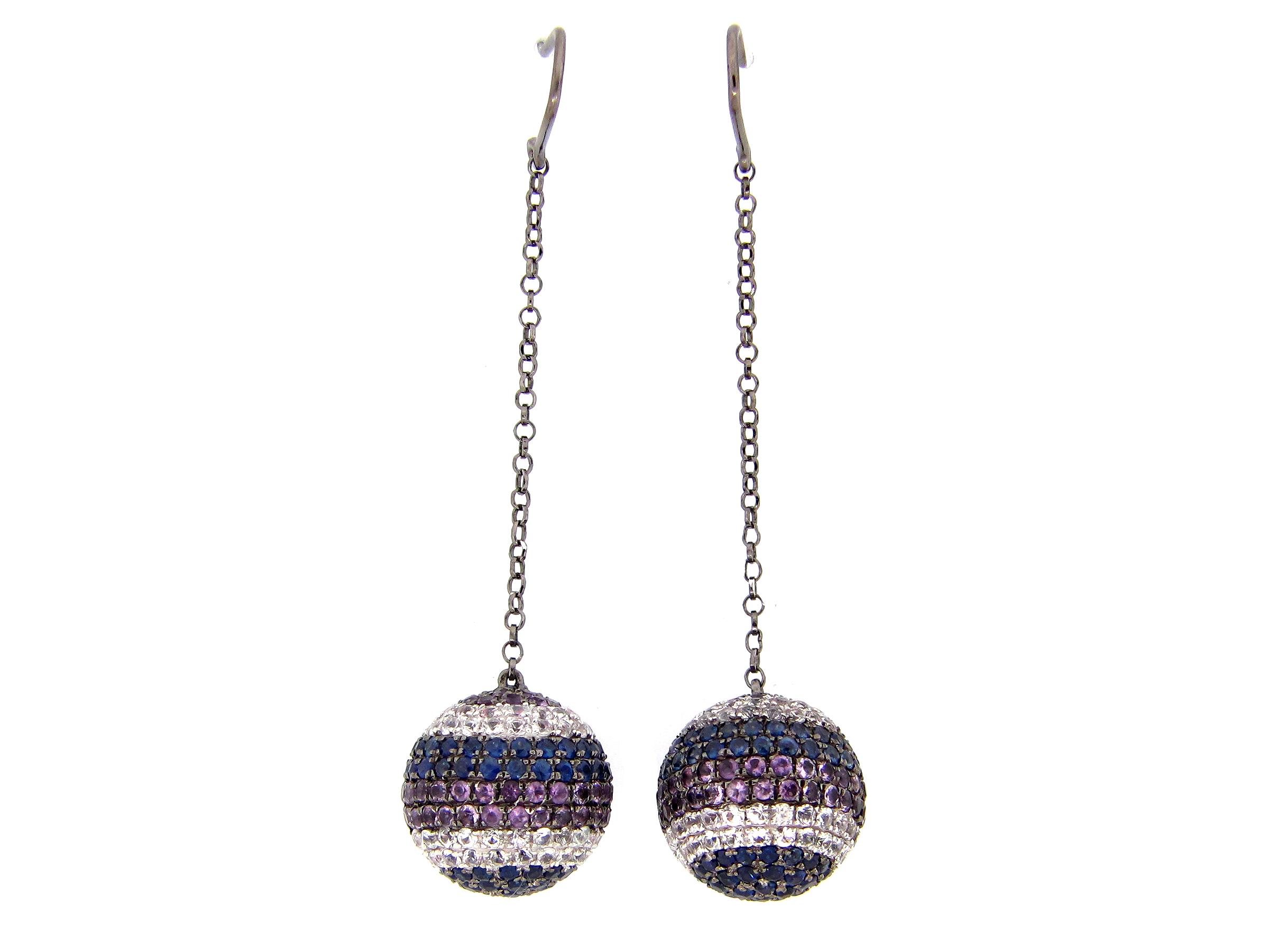 Sapphire Ball Earrings