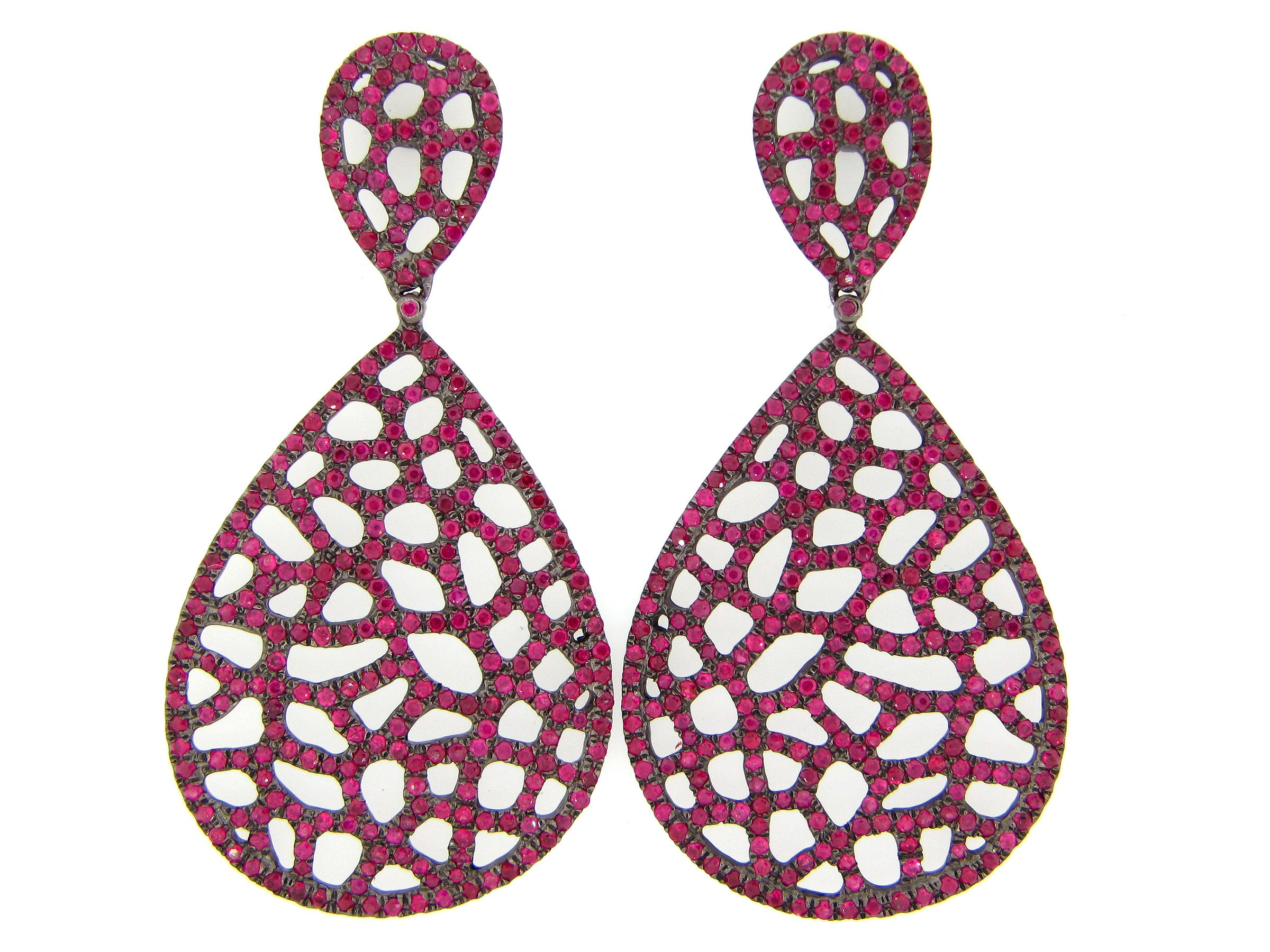 Ruby Lattice Earring