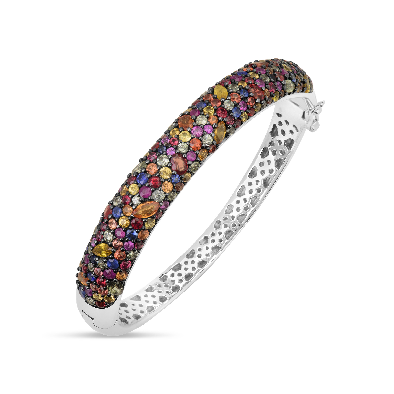 Rainbow Sapphire Bangle