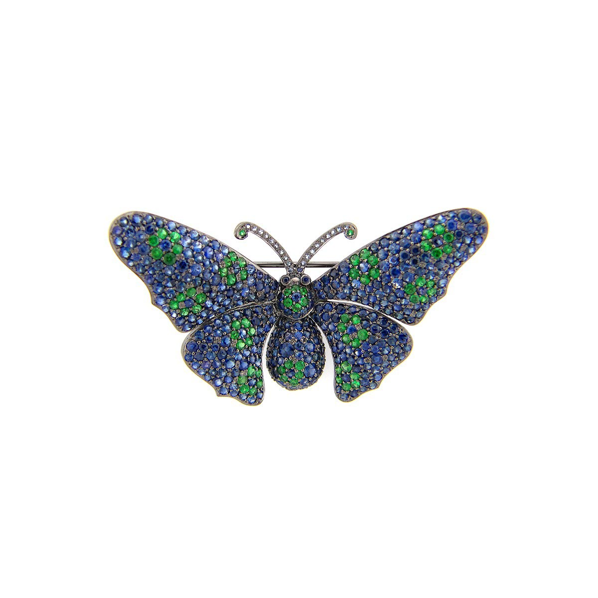 Sapphire & Tsavorite Broach