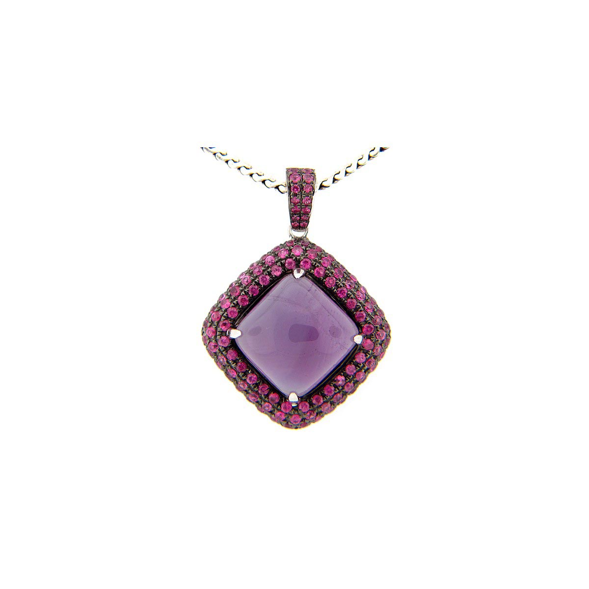 Amethyst & Pink Sapphire Pendant