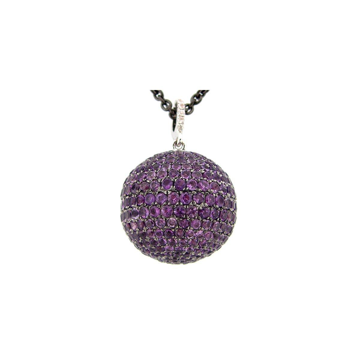 Amethyst Ball Pendant