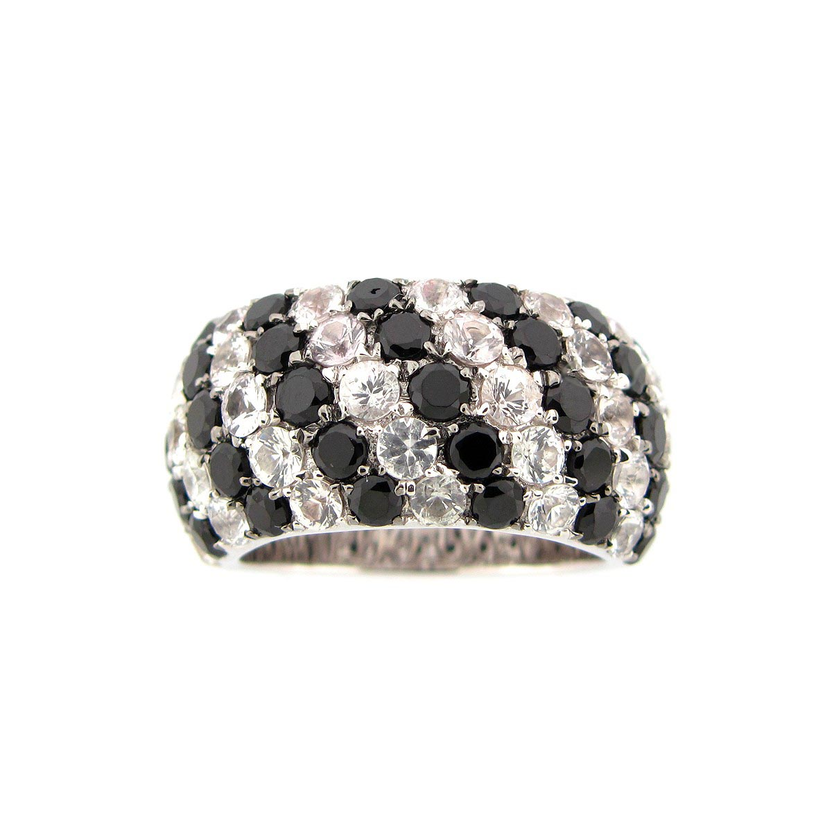 dilamani jewelry black spinel white sapphire ring