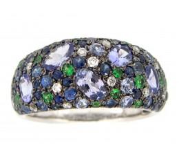 Mixed Gem & Diamond Ring