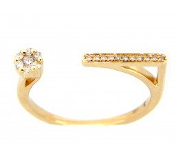 Diamond Dot & Dash Ring