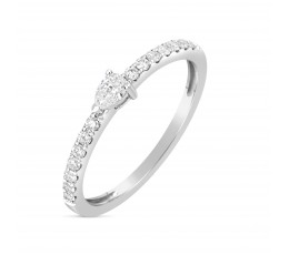 Diamond Pear Ring