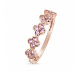 Pink Sapphire Stackable Ring
