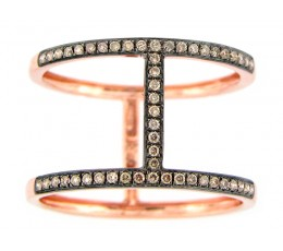 Brown Diamond Couplet Ring