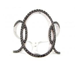 Black Diamond Open Oval Ring