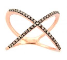 Brown Diamond X Ring