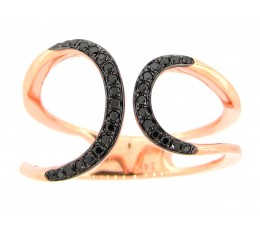 Black Diamond Asymmetrical Ring