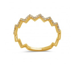 Diamond Zig Zag Stacking Ring
