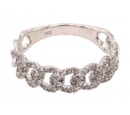 Diamond Link Ring