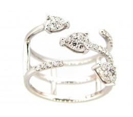 Diamond 3 Row Arrow Ring