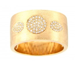 Diamond Pave Circle & Pear Flush set Cigar Band