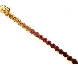 Exotic - Shades of Orange Sapphire Bracelet