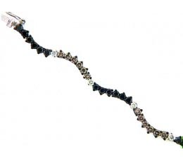 Black, Brown & White Diamond Bracelet