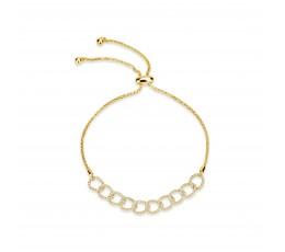 Diamond Link Bolo Bracelet