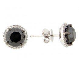 Black & White Diamond Earring