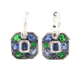 Mixed Gem & Diamond Earring