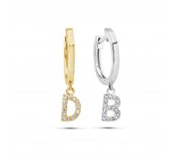 Diamond Initial Dangle Earring