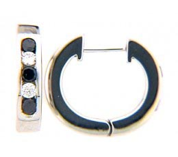 Black & White Diamond Earring