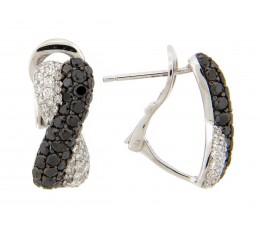 Black & White Diamond Pave Twist Earring