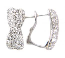 Diamond Pave Twist Earring