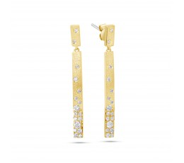 Diamond Bar Earring