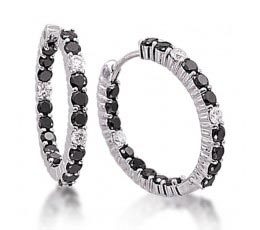 Black & White Diamond Inside Outside Earring