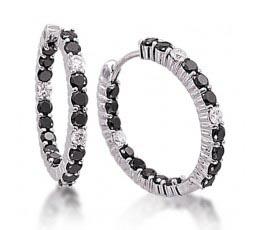 Black & White Diamond Inside Outside Earring