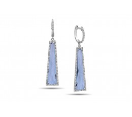 Blue Topaz & Diamond Earring