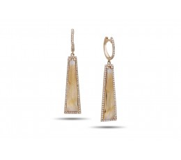 Citrine & Diamond Earring