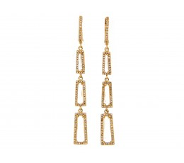 White Topaz and Diamond Earring