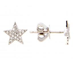 Diamond Star Stud Earring