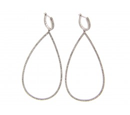 Diamond Large Dangle Earring