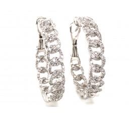 Diamond Link Hoop Earring