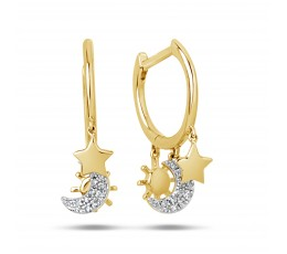 Diamond Celestial Charm Earring