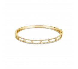 Diamond Railroad Bangle