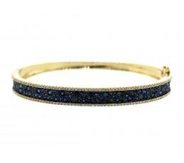 Sapphire & Blue Diamond Bangle