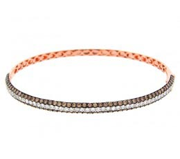 Brown & White Diamond Bangle