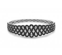 Black & White Diamond Bangle