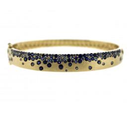 Blue Sapphire Confetti Bangle