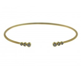 Diamond Bezel Flex Bangle