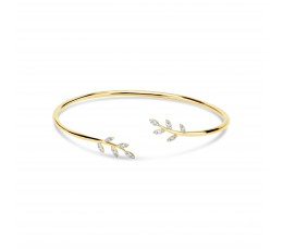 Diamond Leaf Flexible Bangle