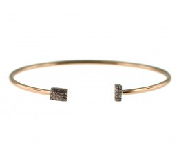 Diamond Bar Flex Bangle