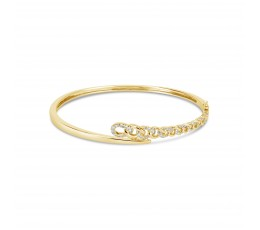 Diamond Link Bypass Bangle