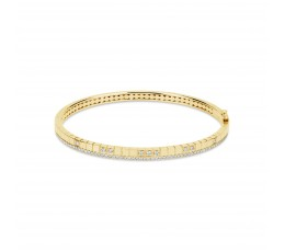 Diamond Square Grid Bangle
