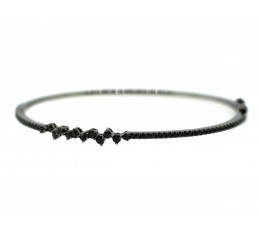 Black Diamond Asymetrical Bangle